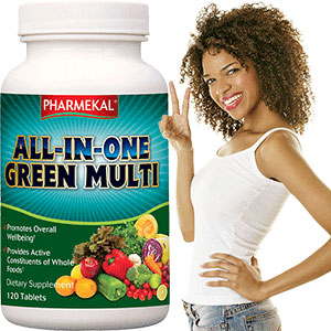 All-In-One Green Multivitamin  -  120db